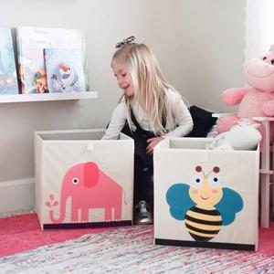 Image 4 - Nouveau 3D Cartoon Animal jouet boîte de rangement pliant bacs de rangement armoire tiroir organisateur vêtements panier de rangement enfants jouets organisateur