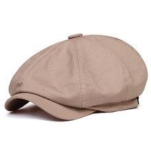 Хлопковая кепка от солнца для мужчин и женщин, Модный хлопковый берет, восьмиугольный, в винтажном стиле, для занятий спортом на открытом во...