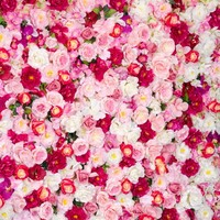 Vinyl Photography backdrop Red Pink Rose Flower computer Printing Wedding Background for photo studio 10X10ft F 1103