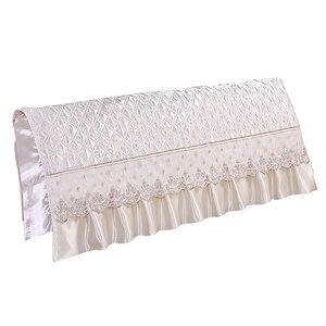 Image 2 - European Style Silk like Bedroom Bed Headboard Slipcover Protector Bed Beige