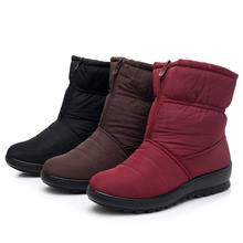 Snow Boots Winter Women Boots Winter Shoes Woman Plush Insole Waterproof Women Thick Velvet Warm Cotton-padded Shoes Snow Boots women winter walking boots ladies snow boots waterproof anti skid skiing shoes women snow shoes outdoor trekking boots for 40c