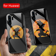 For huawei p30 lite Case Glass back cover dragon ball goku P