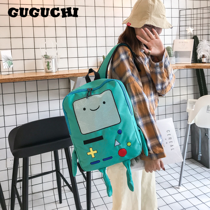 Fashion School Backpacks Unisex Brand 2019 New Casual Students School Bags Shoulder Bags Cute Cartoon Robot Canvas Backpacks