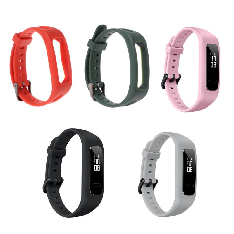 Wrist Band Strap Watchband TPU Adjustable Bracelet Sports Replacement For Huawei 3E/ Honor Band 4 Running Version T4MD