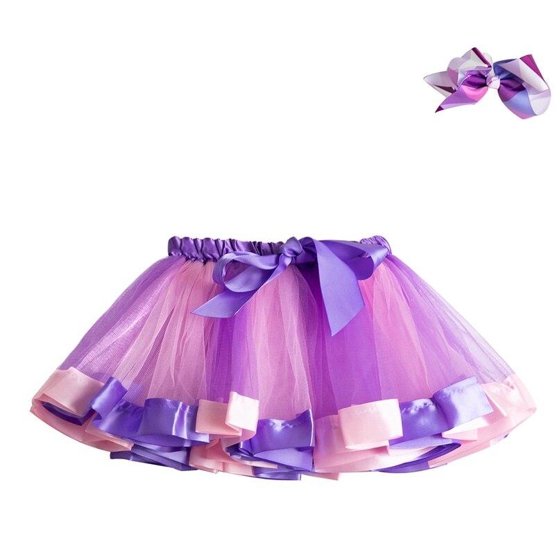 Летняя юбка-пачка; юбки для маленьких девочек; мини-юбка принцессы для дня рождения; Радужная юбка с единорогами; Одежда для девочек; одежда для детей - Цвет: 4