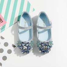 Autumn Girls Princess Shoes Fashion Rhinestone Kids Dress Sh