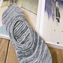 Тонкие мужские ботинки из бамбуковой пряжи, Нескользящие силиконовые невидимые носки, Новинка лета 410