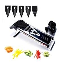 Multifunzionale V Affettatrice Mandoline Affettatrice Selettore rotante Frutta & Verdura Cutter con 5 Lame Attrezzo della cucina