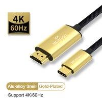 4K 60Hz USB C HDMI-cavo compatibile da tipo C a HDMI-USB-C compatibile con display DP Thunderbolt 3 adattatore convertitore