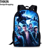 THIKIN Strange Thing Backpack Women School Supplies Satchel Casual Book Bag for Kids Boy Girls  Junior