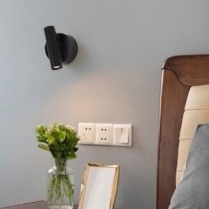 Image 3 - ZEROUNO duvara monte başucu okuma lambası LED duvar ışık kapalı otel misafir odası yatak odası başlık kitap okuma işık anahtarı ile
