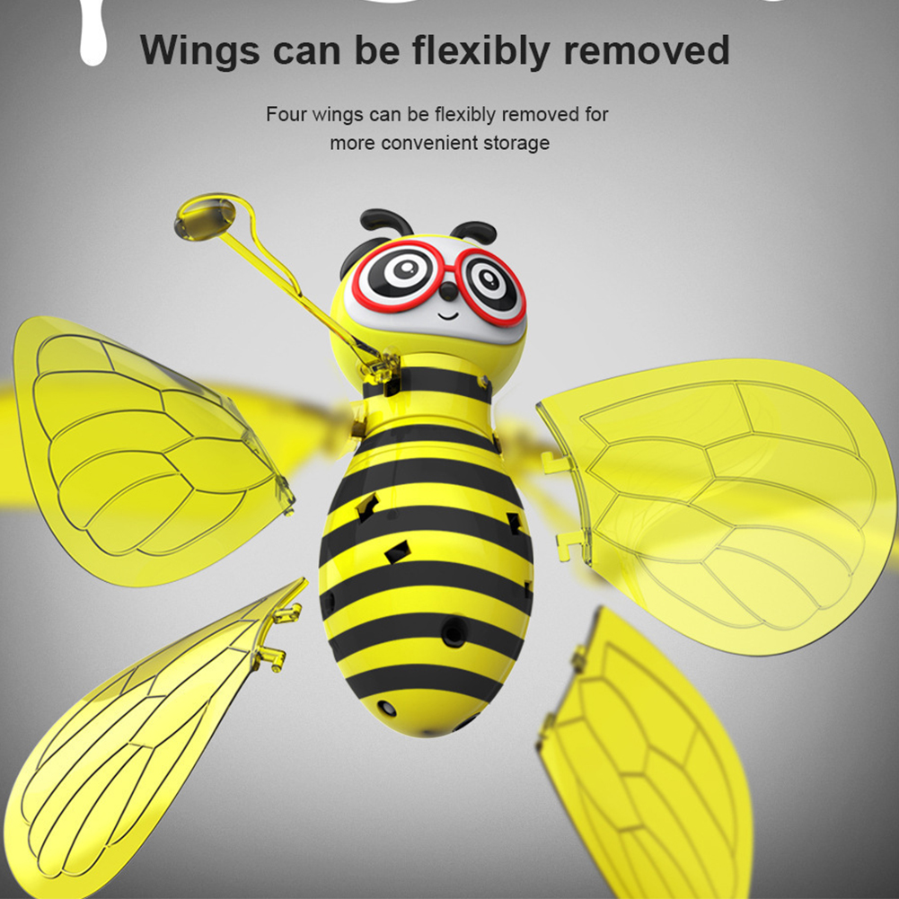 RC Flying Mini Bee Remote Control Toys Electronic Infrared Induction Aircraft CA