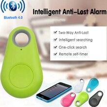 Mini Bluetooth 4.0 GPS Tracker Anti-lost Keychain Smart GPS Locator Anti-lost Alarm Kids Bag Wallet Key Finder Locator Trackers