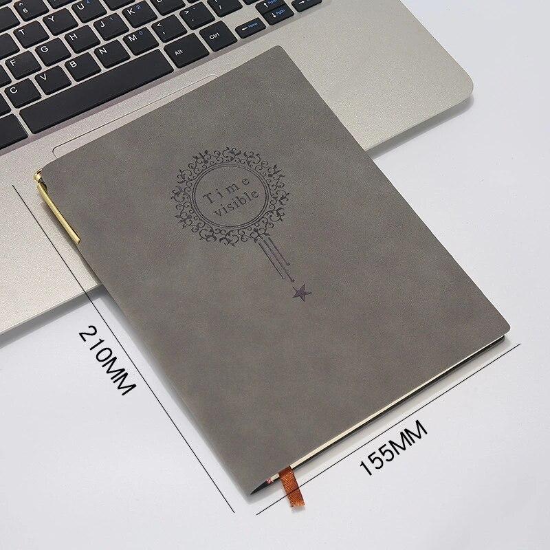 Caderno de couro bloco de notas planejador