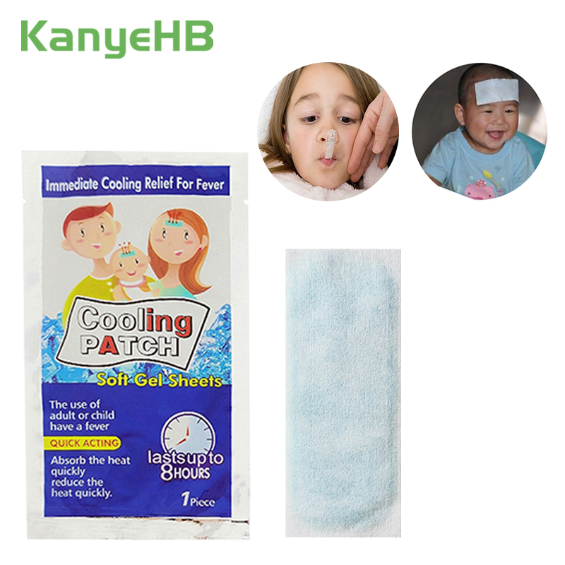 5bags Cooling Patches Baby Fever Down Medical Plaster Lower Temperature Ice Gel Polymer Hydrogel Migraine Headache Pad A167