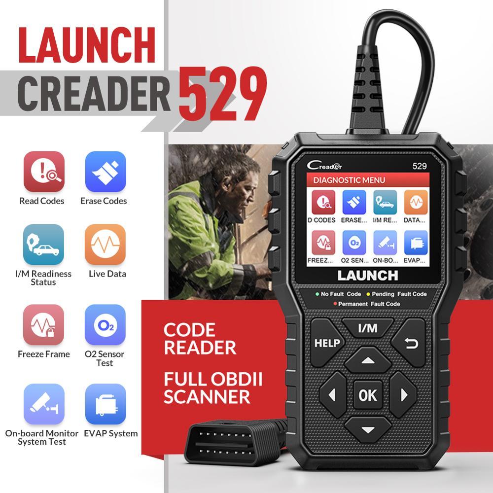 LAUNCH CR529 OBD2 Automotive Scanner Creader 529 Code Reader OBDII Car Diagnostic Tool pk CR319 CR4001 CR3001