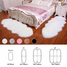 Alfombras de cuero de oveja suave alfombras para el hogar dormitorio sala de estar alfombras cálidas alfombrillas para el suelo alfombrillas de piel y pelo alfombras de piel sintética