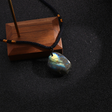 Pendant Necklace Jewelry Crystal-Labradorite-Pendant Healing-Stone Irregular Natural Crystal