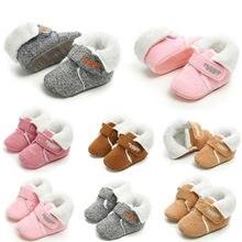 Зимние теплые для детей, для маленьких мальчиков и девочек, мягкая подошва, детский пинетки для младенцев, противоскользящие сапоги, модные однотонные водонепроницаемые Нескользящие ботинки