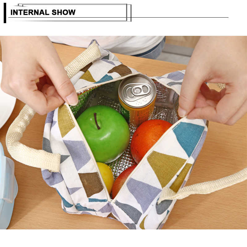 Venda quente lancheira portátil isolado saco de almoço comida térmica padrão funcional cooler piquenique almoço sacos para crianças