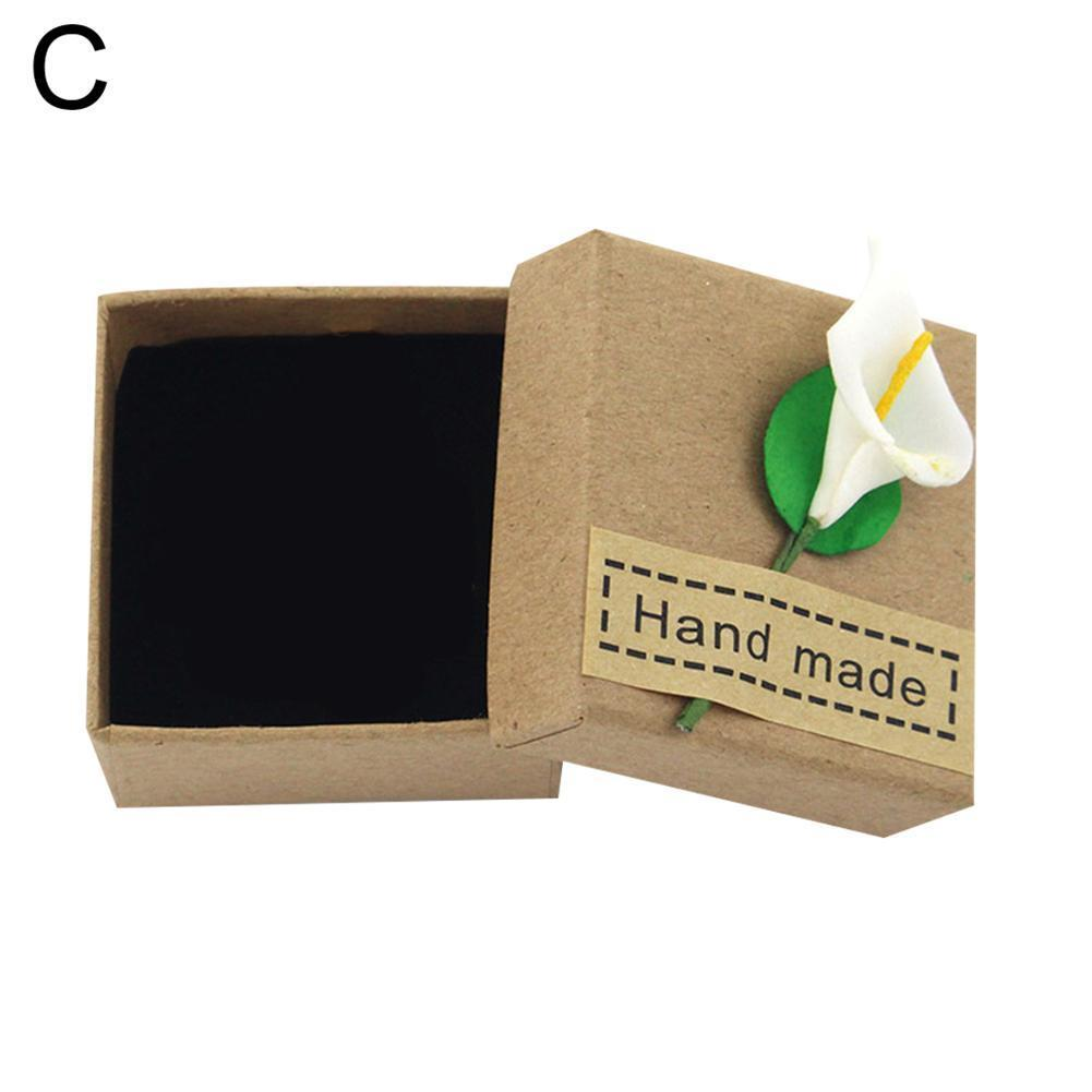 High Quality Square Jewelry Box Delicate Solid Color Jewelry Box Necklace Ring Gift Earring U7T0