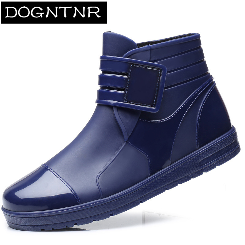 Winter Short Tube Chef Men's Boots 2020 Casual Low-top Men's Rain Boots Non-slip Waterproof Summer Fashion Kitchen Work Shoes