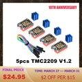 Драйвер шагового двигателя BIGTREETECH TMC2209 V1.2 VS TMC2208 UART драйвер TMC2130 TMC5160 для SKR V1.4 mini E3 Ender Запчасти для 3D-принтера