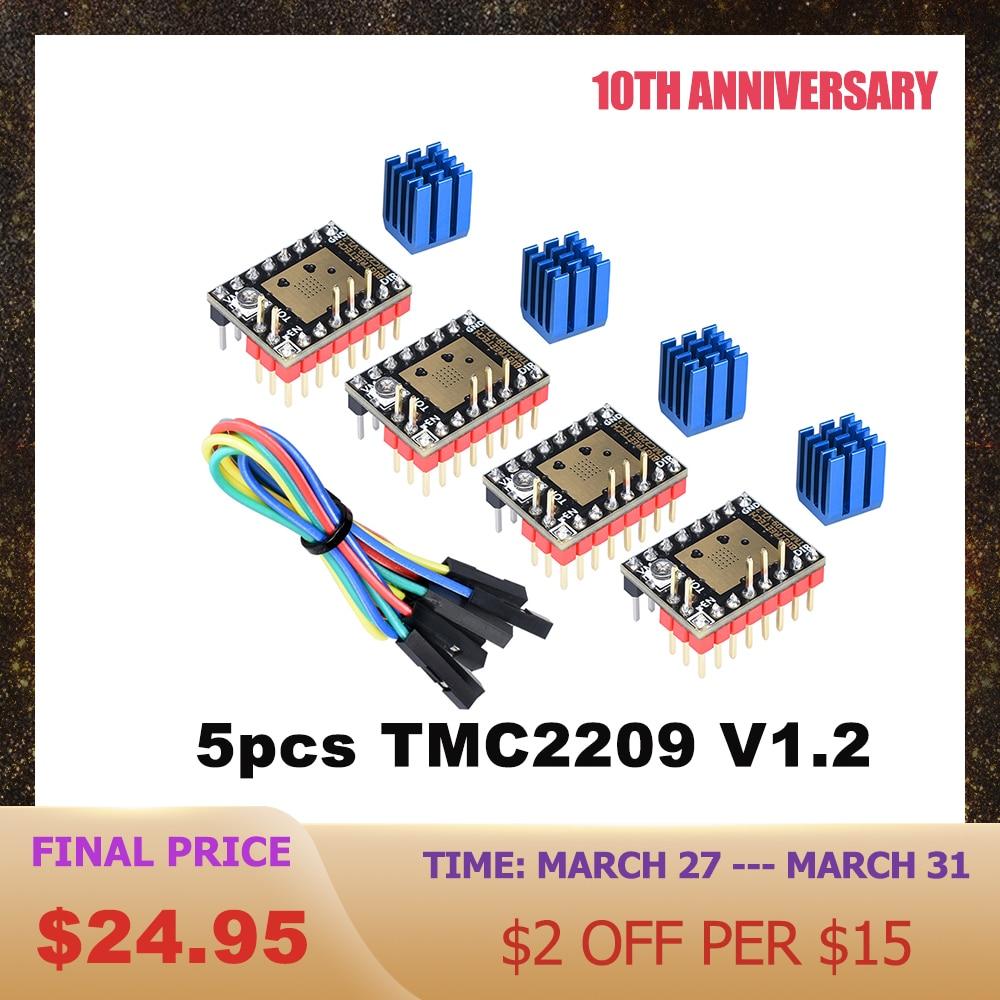 BIGTREETECH TMC2209 V1.2 Stepper Motor Driver VS TMC2208 UART Driver TMC2130 TMC5160 For SKR V1.4 mini E3 Ender 3D Printer Parts|3D Printer Parts & Accessories| |  - title=