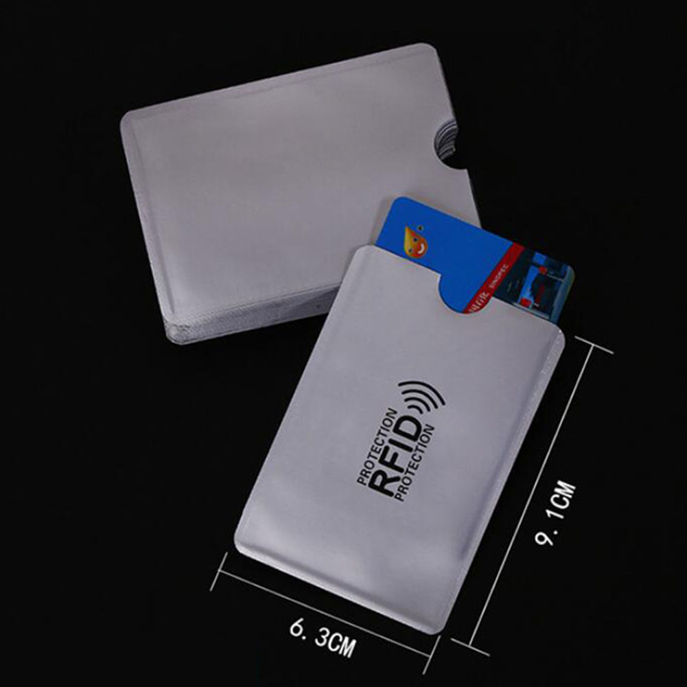 Anti Rfid Wallet Blocking Reader Lock Bank Card Holder Id Bank Card Case Protection Metal Credit NFC Holder Aluminium