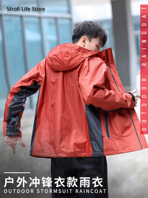 Men Rain Jacket Pants Set Raincoat Waterproof Suit Men's Electric Motorcycle Rain Coat Adult Outdoor Women's Jacket Hiking Gift
