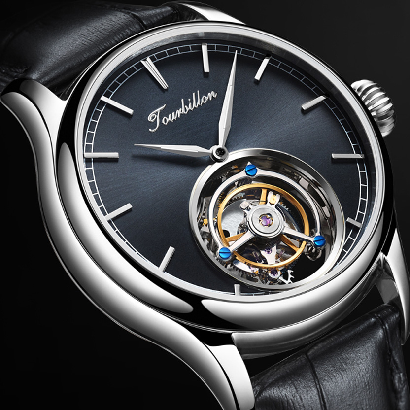 Original Tourbillon Watch mechanical  watch GUANQIN Skeleton Luxury clock men Sapphire Mens Watches Top Brand  Relogio Masculino