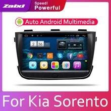 ZaiXi Android 2 Din Car radio Multimedia Video Player auto Stereo GPS MAP For Kia Sorento 2013~2014 Media Navi Navigation цена