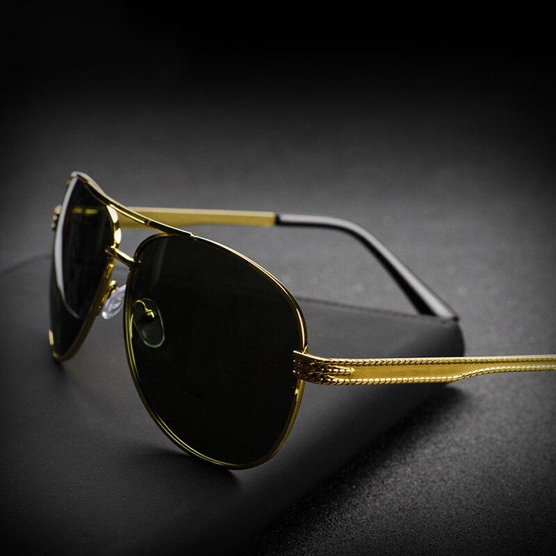 Поляризационные солнцезащитные очки для пилота, мужские винтажные очки для вождения, рыбалки, солнцезащитные очки для мужчин, ретро