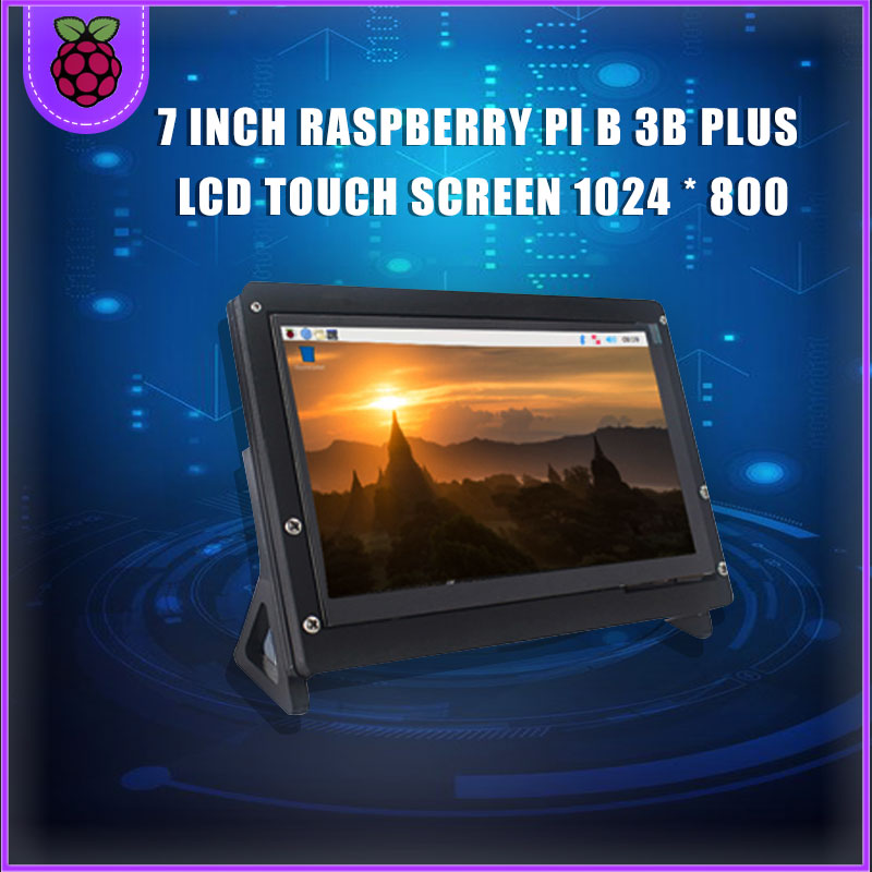 7 Inch Raspberry Pi 4 Model B 3B Plus LCD Display Touch Screen 1024*600 800*480 HDMI TFT + Holder For Nvidia Jetson Nano PC