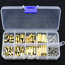 120Pcs M3 Male-Female Brass Hex Column Standoff Support Spacer Pillar For PCB Board