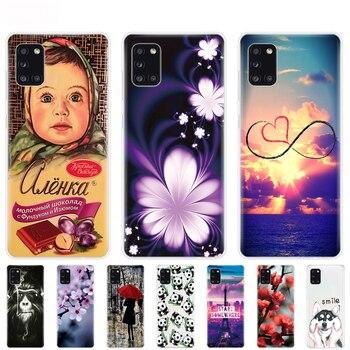 Перейти на Алиэкспресс и купить Силиконовый чехол для Samsung Galaxy A31, чехол для Samsung A31 A 31 SM-A315F, чехол для телефона из мягкого ТПУ, чехол, бампер, 6,4 дюйма, защитная сумка