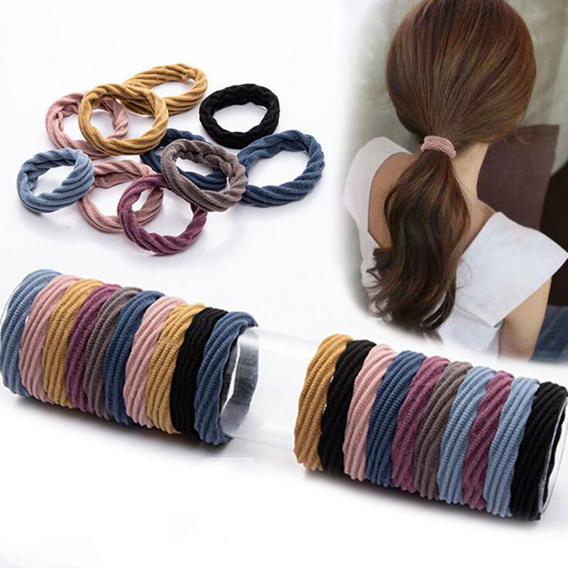 1Pcs/set Women Girls Thick Wide Hair Rope Thickened Seamless Hair Ring Tie Band Loop Head Accessories Mixed Color