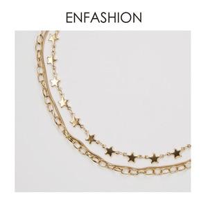 Image 5 - ENFASHION بوهو متعدد الطبقات ستار سلسلة المختنق قلادة المرأة الذهب اللون الفولاذ المقاوم للصدأ القلائد مجوهرات الأزياء keting P193035