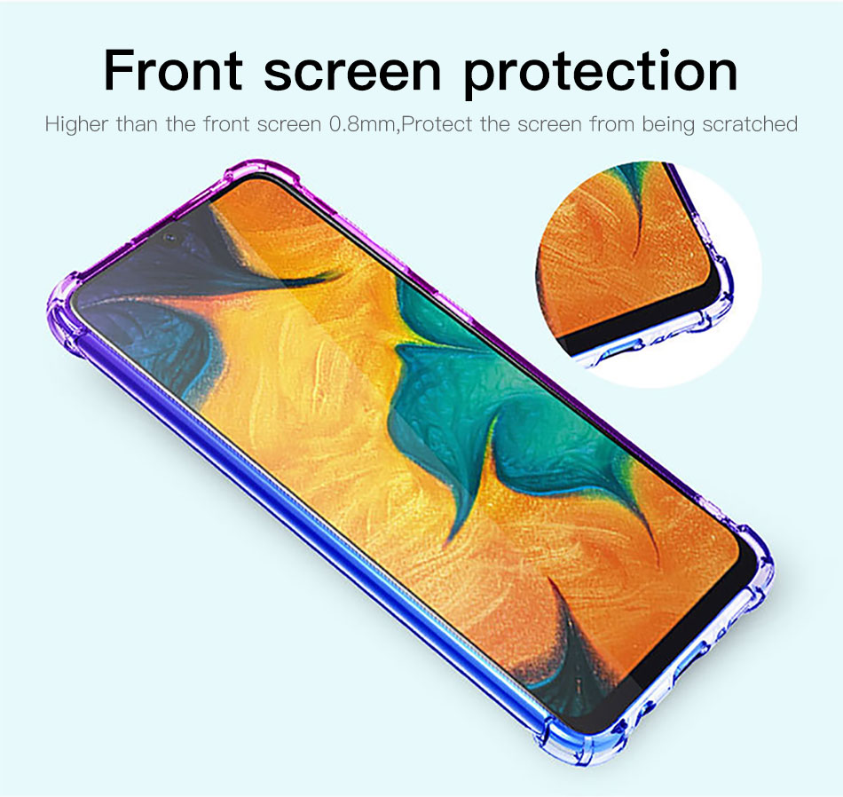 !ACCEZZ Colorful For Samsung A40 A50 Soft Phone Case Protection Back Cover For Galaxy A50 A40 TPU Thin Phone Shell Fitted Case (3)