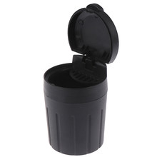 1pc ABS Car Ashtray High temperature resist Cigarette Smoke Holder Portable Storage Black Trash Bin Dust Garbage Interior decor(China)