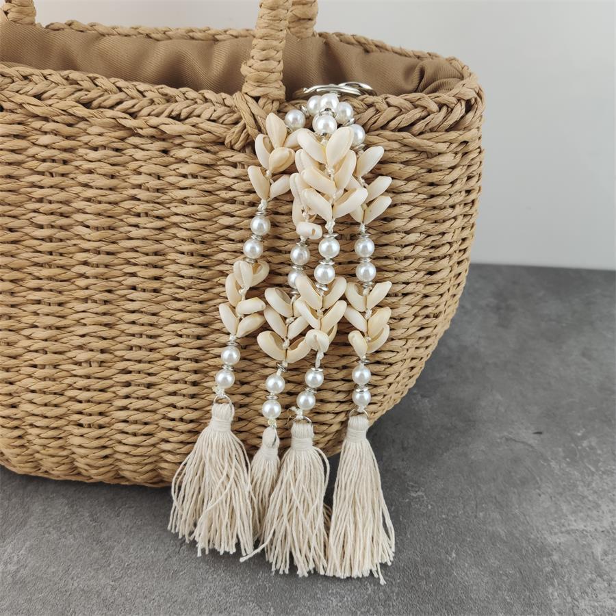Fashion New Pearl Keychain Women Trinket For Women's Handbags Peal Beads Tassel Keyring Key Ring For Jewelry Making Accessories