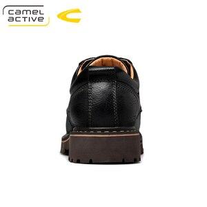 Image 2 - גמל פעיל חדש אנגליה אמיתי עור נעלי שרוכים גברים נעליים יומיומיות יד תפור עבה סולית גברים של נעלי נעלי גבר