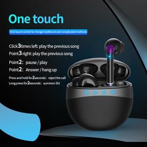 Image 2 - מרוצף עיצוב Bluetooth 5.0 אוזניות סטריאו אלחוטי מגע בקרת אוזניות אוזניות עבור Huawei Iphone Xiaomi נייד