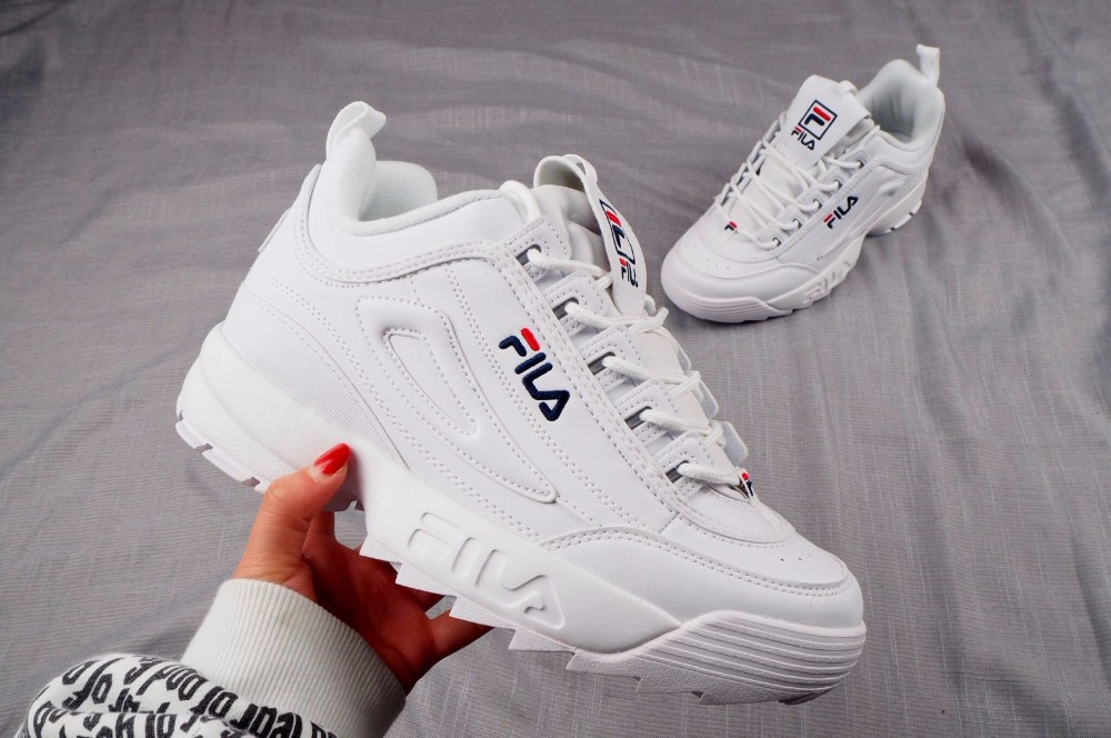 FILA  Disruptor II 2 Generation Of Large Sawtooth Bottom, Increased Leg Repair, Jogging Shoes, Peppermint Green Size 36-42