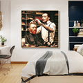 Забавным персонажем Портрет Искусство Ван Гог стрижка Плакаты и принты картины на холсте искусство стены фотографии для Декор в гостиную