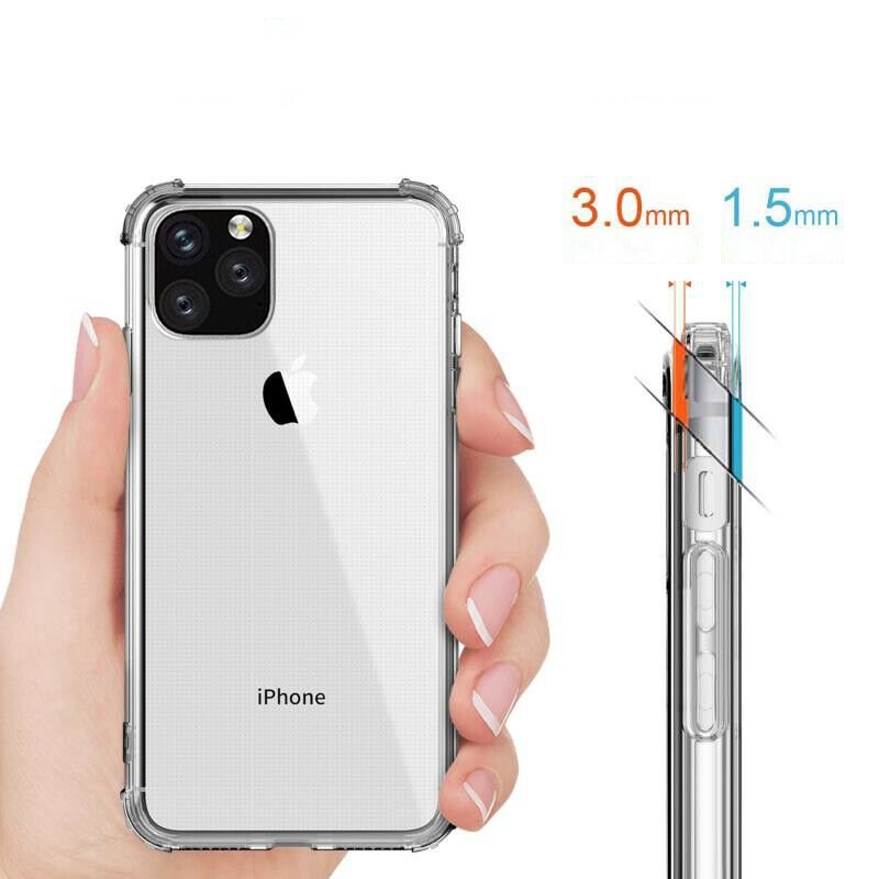 Image 2 - Rsionch Soft TPU Case for iPhone 11 Pro Max 11 Pro Transparent Silica Phone Case on iPhone 11 Pro 6s 7 8 Plus 5 Clean Back Cover-in Fitted Cases from Cellphones & Telecommunications