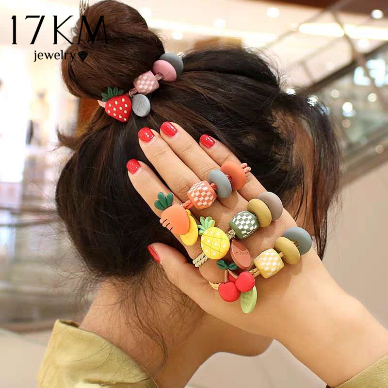 1PCS Lovely Women Elastic Hair Bands Scrunchie Tie Gum Rope Rubber Bands Fashion Hair Ropes Ponytai Holder Hair Accessories