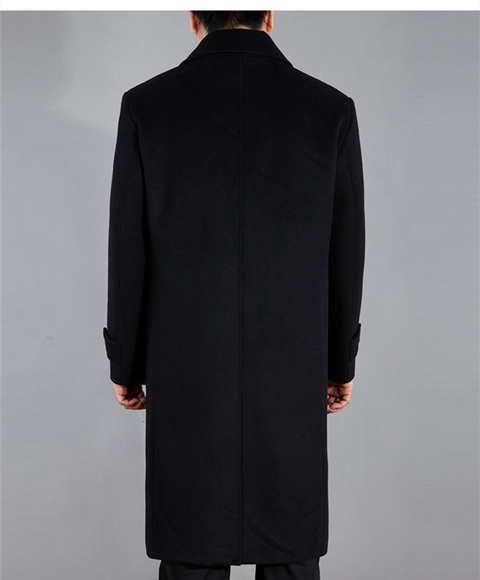 Autumn Winter 2020 Men Wool Coats Jackets Long Warm Turm Down Collar Overcaot Manteau Homme Male Plus Size 4XL LX769
