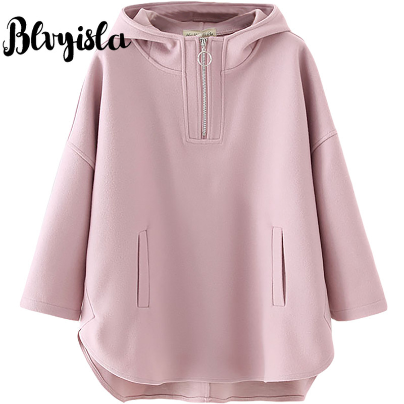 4XL Oversize Solid Zipper Hoody Sweatshirts Overweight Female Ireegular Hem Plus Size Hoodies Spring Cotton Blend Loose Tops