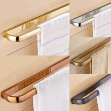 Wall Mounted Bathroom Towel Holders Towel Bars Single Towel Racks Bathroom Accessories Chrome/Gold/Rose Golden/Antique/ Black стоимость